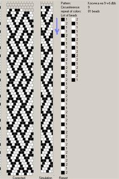 9 around tubular bead crochet rope pattern Crochet Beaded Bracelets, Bead Crochet Rope, Bead Loom Bracelets, Beaded Crochet, Loom Bracelet Patterns, Seed Bead Patterns, Beaded Jewelry Patterns, Beading Patterns Free, Bead Loom Designs