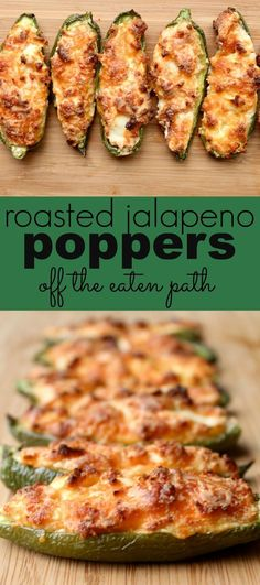 roasted jalapeno poppers are a spin on the classic appetizer, with tons of flavor and cheese! Roasted jalapeno poppers are a spin on the traditional favorite. Still full of flavor and cheese, making them perfect for your game day spread! Low Carb Appetizers, Appetizer Recipes, Cheese Appetizers, Appetizer Ideas, Cheese Dips, Cheese Snacks, Cheddar Cheese, Snack Recipes, Low Carb Recipes