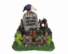 Lemax Spooky Town Cowboy Gravesite #83671