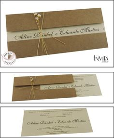 Rustic invite with twine