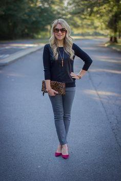 Grey coated jeans