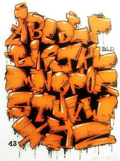 Graffiti Alphabet : 3D Style Graffiti Alphabet Letter A Z 2016 Graffiti Alphabet…