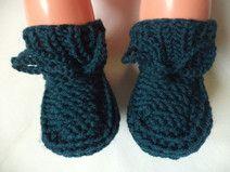 Babyschuhe gestrickte Socken Gr. 62/68 Merinowolle