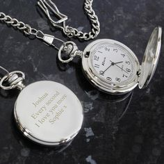Birthday Gift For Him, Special Birthday, 50th Birthday, Personalized Pocket Watch, Personalized Gifts, Watch Engraving, Mechanical Pocket Watch, Father Of The Bride, Chrome Plating
