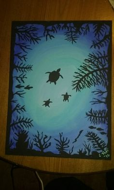 Check out this item in my Etsy shop https://www.etsy.com/listing/274741552/under-the-sea-turtles-ocean-original