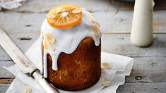 Almond-glazed tall breads (kulich) recipe : SBS Food