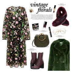 """""""Smell the Roses: Vintage Florals"""" by sproetje ❤ liked on Polyvore featuring MICHAEL Michael Kors, Chloé, Gucci, Frye, Chanel, vintage, WearIt, fallfashion and vintageflorals"""