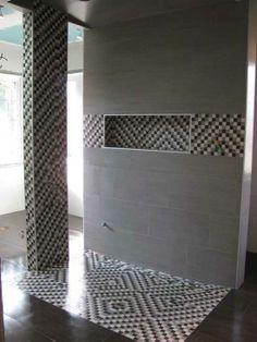 Bathroom renovations, Custom Steam Shower with Linear Drain and Heated Floor