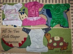 The All-in-Two Diaper Comparison - Cloth Diaper Addicts @Lauren Marie Mills Valdes Diapers @Angie Wimberly Morris Babies @bestbottomdiapers @GroVia