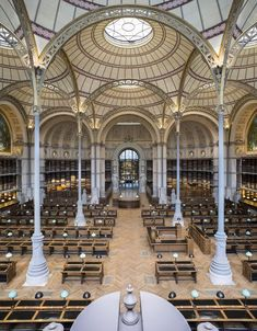 A guided tour of the newly refurbished Richelieu Library Library Architecture, Historical Architecture, Architecture Design, Story Of The World, Wonders Of The World, Beaux Arts Paris, World Library, Temple Ruins, Old Libraries