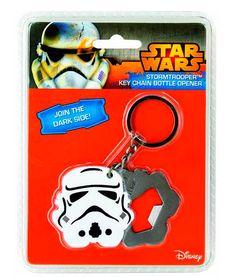 Llavero abrebotellas Stormtrooper. Star Wars Llavero con abrebotellas basado en la saga de películas de Star Wars.