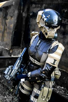 Haven Trooper from Metal Gear Solid Also makes for cool inspiration for a Cyberpunk heavy response team armour. Batman Christian Bale, Suit Of Armor, Body Armor, Batman Begins, Character Concept, Character Design, Armadura Cosplay, Mekka, Sci Fi Armor
