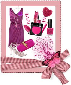 """""""Adorable Pink"""" by christysibuea on Polyvore"""