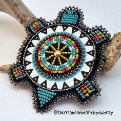 #native #nativeamerican #beadwork #nativebeadwork #oglalalakota #lakota #lakotabeadwork #turtle #handpainted #magnet #turquoise