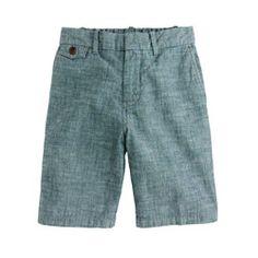 Boys' pull-on chambray short