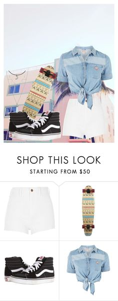 """""""Longboarding in Miamii"""" by juju-mari-pie on Polyvore featuring River Island, Vans, Topshop and Hot Topic"""