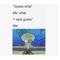 best 15 Spongebob Hilarious Memes There had been a lot of Spongebob Memes created for years and we provide you with Top 15 we determined. Spongebob isn't only for kids its for adults too. Memes Spongebob, Spongebob Squarepants, Squidward Meme, Reaction Pictures, Funny Pictures, Dankest Memes, Funny Memes, Funny Art, Eye Twitching