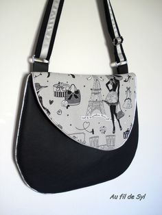 Best 12 Since a few days . small slack shots, the feeling that this . Diy Bags Purses, Fabric Purses, Fabric Bags, Purses And Handbags, Patchwork Bags, Quilted Bag, Pochette Diy, Sacs Tote Bags, Black And White Purses