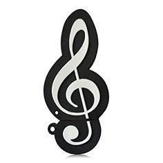 Hi-SPEED MEMORIA USB PENDRIVE 32GB FLASH FIGURA NOTA MUSICAL NEGRO Clave de sol