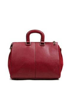 VIVILLI Leather Front Zip Pocket Tote Handbag-Red - Sale: $81.00 [ http://handbags.osx128.com/vivilli-leather-front-zip-pocket-tote-handbag-red/ ] #GraffitiLensHandBag
