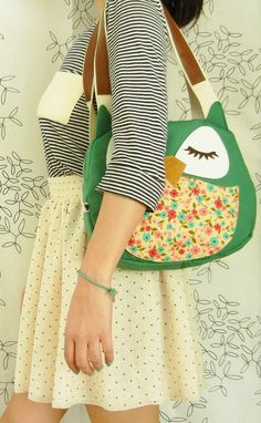 {owl tote} by Cuore    I don't care if it makes me a hipster, I will never stop collecting kitschy animal items.