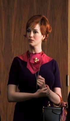 Handmade Joan Holloway Wiggle Dress -  Purple and Fuchsia