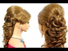 Hairstyles for medium long hair. Wedding prom hairstyles