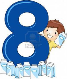 Illustration Of A Kid Surrounded By Milk Cartons Stock Photo, Picture And Royalty Free Image. Preschool Letter Crafts, Numbers Preschool, Learning Numbers, Letter A Crafts, Math Numbers, Classroom Rules, Classroom Decor, Teaching Aids, Teaching Math
