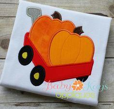 Baby Kay's Appliques - Wagon with Pumpkins 4x4, 5x7, 6x10, 8x8, $0.75 (http://www.babykaysappliques.com/wagon-with-pumpkins-4x4-5x7-6x10-8x8/)