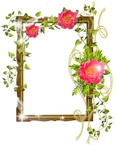 flower frame photoshop background png