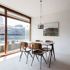 Gerrard Unitas Windows.Utile Mahogany double glazed windows on the Barbican Development