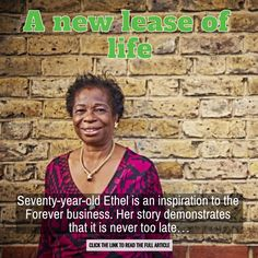 Real Forever Living people. See 'A new lease of life'.  #FacesOfForever http://wu.to/eFZYgB