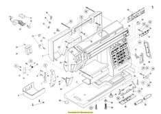 Elna 7000 Sewing Machine Service-Parts Diagrams Manual. Examples include: Hook timing, Motor belt tension, Needle clearance, Parts diagrams and list, Test Sewing Machine Service, Manual, Art Drawings, Diagram, Art Illustrations