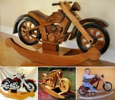 Motorcycle Rocker. That's a unique twist on that and looks adorable