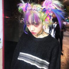 hairstyles hairstyles zitongli on Ins - Hair Inspo, Hair Inspiration, Swagg Girl, Pretty People, Beautiful People, Beautiful Pictures, Pelo Multicolor, Grunge Hair, Boho Grunge