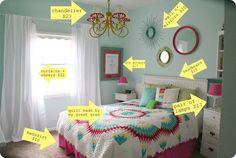 Such a cute tween girl's room