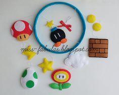 Super Mario Birthday, Mario Birthday Party, Super Mario Party, Super Mario Bros, Diy And Crafts, Crafts For Kids, Tooth Fairy Pillow, Felt Decorations, Felt Dolls