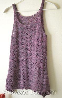 falling with grace tank knitting pattern SweaterBabe Knitting Pattern Summer Knitting, Lace Knitting, Knit Crochet, Knitted Tank Top, Knit Tops, Knitting Patterns, Crochet Patterns, Knitwear, Shirts