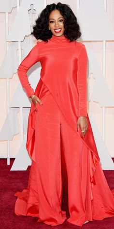 Academy Awards 2015 Red Carpet Arrivals - Solange from #InStyle