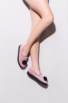 Minna Parikka's Pom Pom Slip-On pale pink shearling