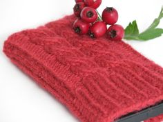 Knitted Cell Phone iPhone Mobile Phone Case by ChiChiMarieDenmark, $22.00