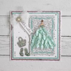 Chloes Creative Cards Craft, Cardmaking and Papercraft Supplies Happy Birthday Card Design, Happy Birthday Cards, Chloes Creative Cards, Stamps By Chloe, Create And Craft Tv, Soda Can Art, Dress Card, Cardmaking And Papercraft, Butterfly Crafts