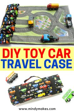 Diy Travel Toys, Diy Toys Car, Sewing Patterns Free, Free Sewing, Sewing For Kids, Diy For Kids, Car Play Mats, Car Carrier, Sewing Toys