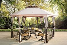 Sunjoy L-GZ076PST-1C 14.6' x 13' Genoa Hexagon Gazebo wit... https://www.amazon.com/dp/B01DWVI7XK/ref=cm_sw_r_pi_dp_5fYFxbFTF1DPK