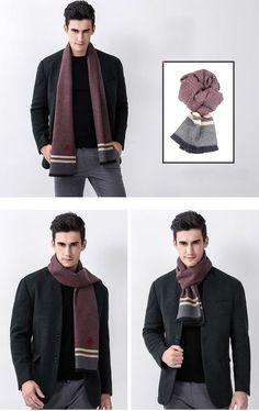 6aa1fe6bbbf Scarves Autumn Winter Warm Men Fashion Casual Wool Scarf Clothing Apparel  Luxury  mensfashion  menswear