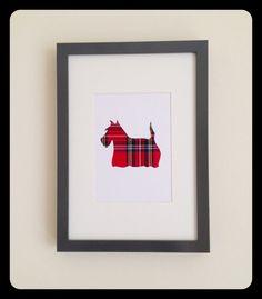 Hand Crafted Scottie Dog - Royal Stewart Tartan