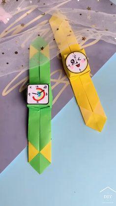Fun Diy Crafts, Fun Crafts For Kids, Diy Crafts Videos, Preschool Crafts, Art For Kids, Paper Crafts Origami, Easy Paper Crafts, Art N Craft, Diy Art