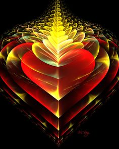 Love Burns Eternal by myberg2 on DeviantArt I Love Heart, Happy Heart, Beautiful Heart Pics, Art Fractal, Fire Heart, Heart Art, Sacred Geometry, Heart Shapes, Artwork