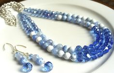SALE 25 Off WAS 35.00 NOW 26.25 Blue and White by EclecticChic50, $26.25