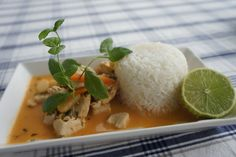 Chicken with red curry